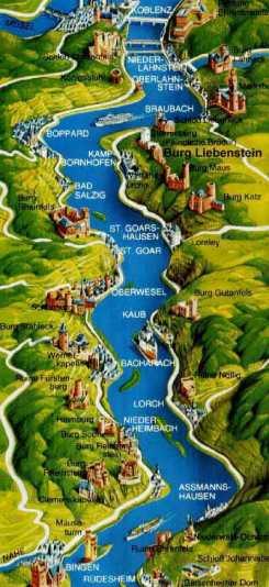 Valle del Reno mappa castelli